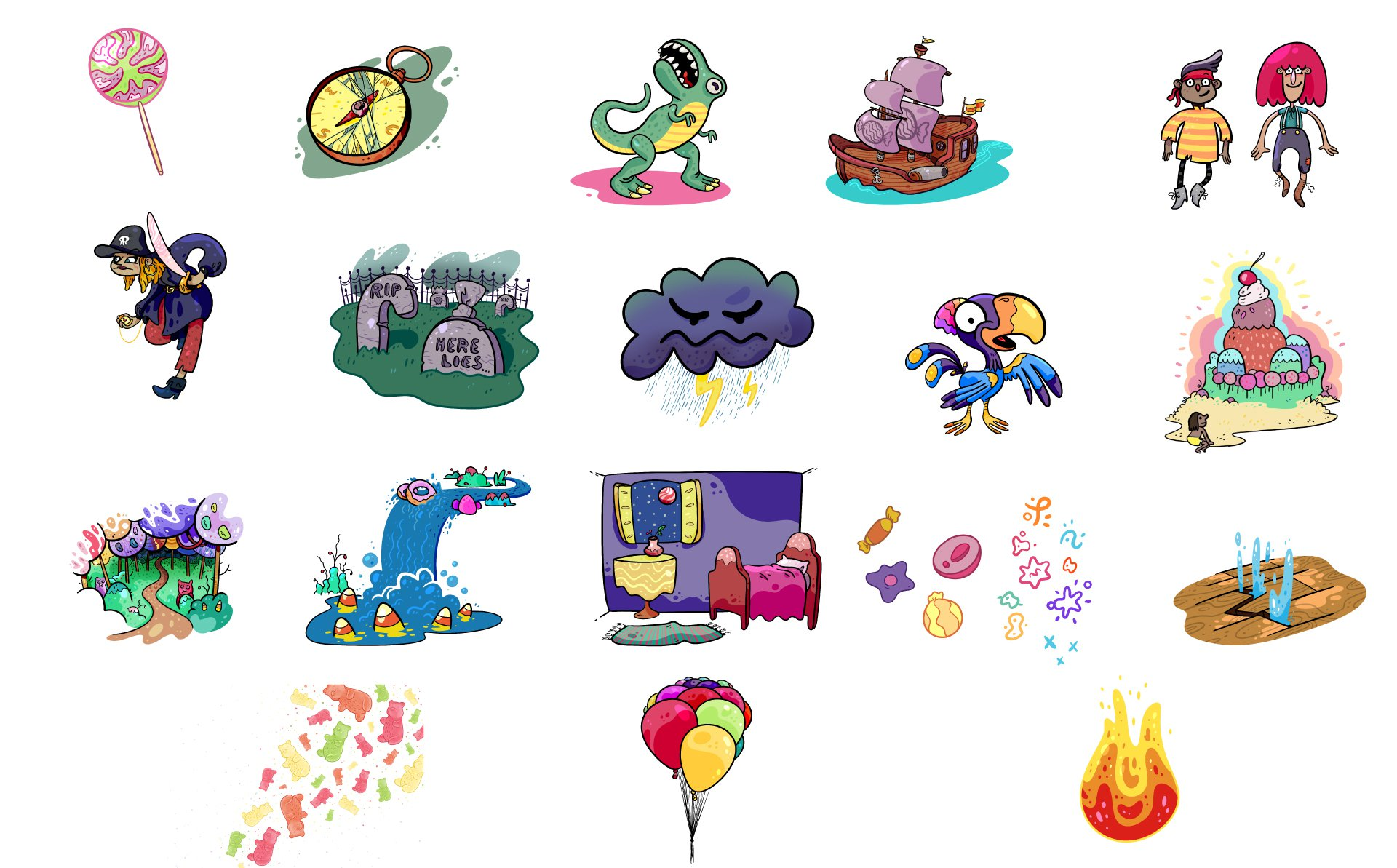Escape from Candy Island Story Elements